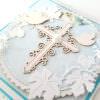 Kartka ręcznie robiona na Chrzest Święty 34