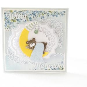 Kartka ręcznie robiona na narodziny dziecka 11