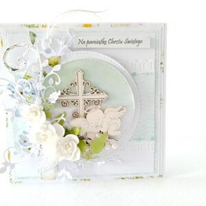 Kartka ręcznie robiona na Chrzest Święty 9