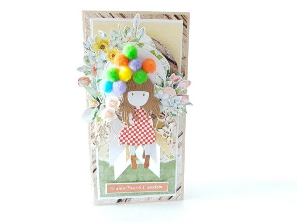 Kartka ręcznie robiona na urodziny dziecka 35