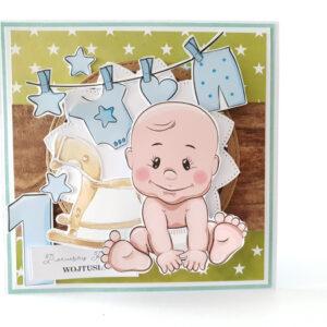 Kartka ręcznie robiona na urodziny dziecka 14