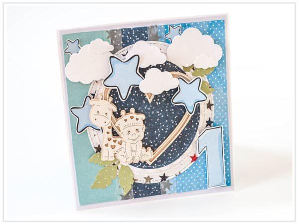 Kartka ręcznie robiona na urodziny dziecka 1