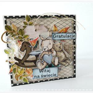Kartka ręcznie robiona na Narodziny Dziecka 19