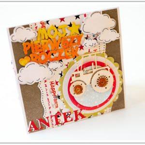 Kartka ręcznie robiona na urodziny dziecka 3