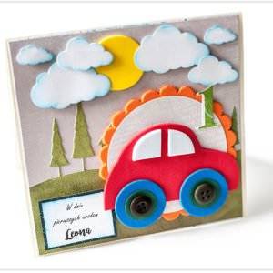 Kartka ręcznie robiona na urodziny dziecka 5