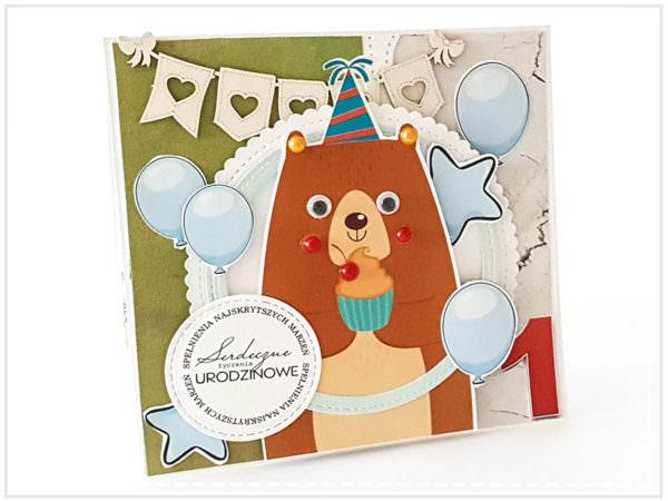 Kartka ręcznie robiona na urodziny dziecka 41