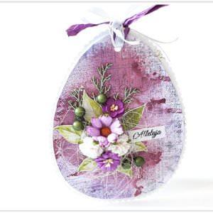Kartka ręcznie robiona na Wielkanoc 18