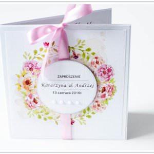 Zaproszenie ręcznie robione na ślub 1