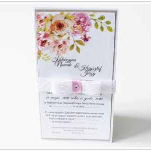 Zaproszenie ręcznie robione na ślub 4