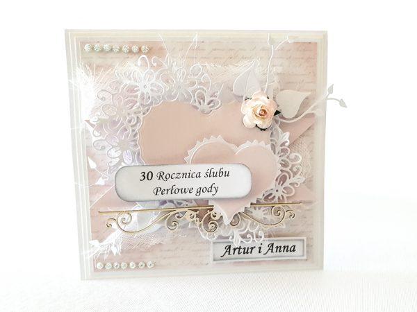 Kartka ręcznie robiona na rocznicę ślubu 18