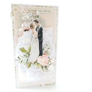 Kartka ręcznie robiona na ślub 4