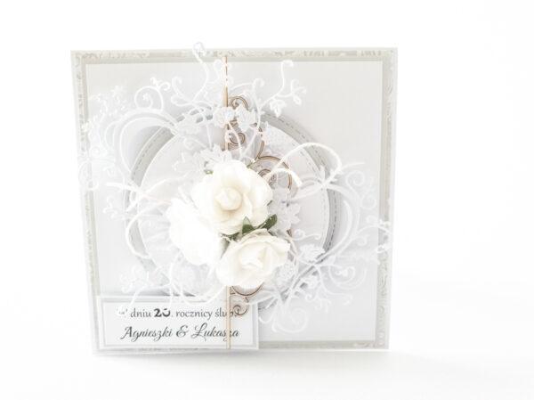 Kartka ręcznie robiona na rocznicę ślubu 20