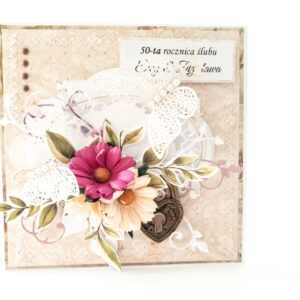 Kartka ręcznie robiona na rocznicę ślubu 3