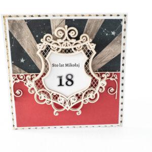 Kartka ręcznie robiona na urodziny 23