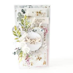 Kartka ręcznie robiona na ślub 85