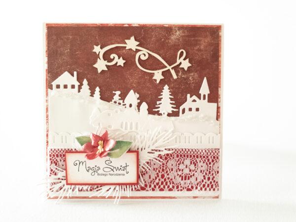 Kartka ręcznie robiona na Boże Narodzenie 1