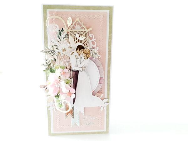 Kartka ręcznie robiona na ślub 10