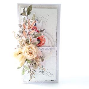 Kartka ręcznie robiona na ślub 87