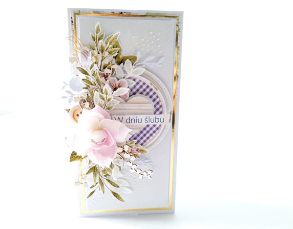 Kartka ręcznie robiona na ślub 49