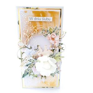 Kartka ręcznie robiona na ślub 43