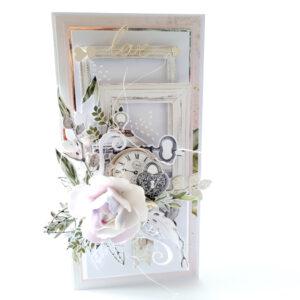 Kartka ręcznie robiona na ślub 67