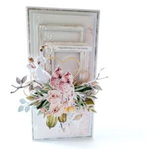 Kartka ręcznie robiona na ślub 26