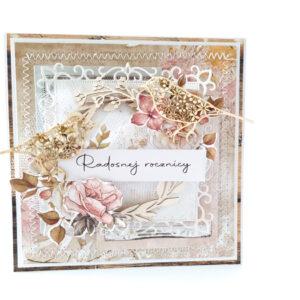 Kartka ręcznie robiona na rocznicę ślubu 24