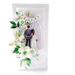 Kartka ręcznie robiona na ślub 81