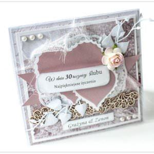 Kartka ręcznie robiona na rocznice ślubu 18