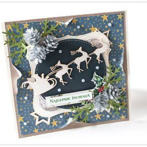Kartka ręcznie robiona na Boże Narodzenie 3