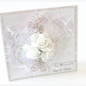 Kartka ręcznie robiona na rocznice ślubu 20