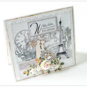 Kartka ręcznie robiona na ślub 68