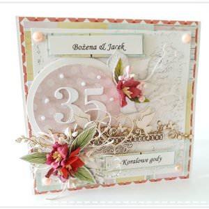 Kartka ręcznie robiona na rocznice ślubu 12