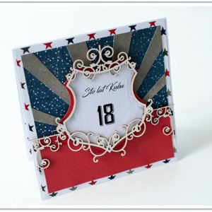 Kartka ręcznie robiona na urodziny 21