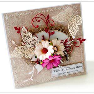 Kartka ręcznie robiona na rocznice ślubu 3