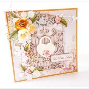 Kartka ręcznie robiona na ślub 50