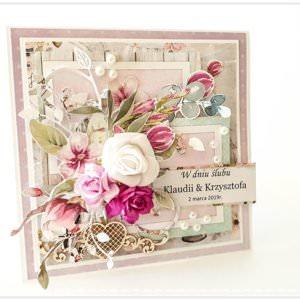 Kartka ręcznie robiona na ślub 51