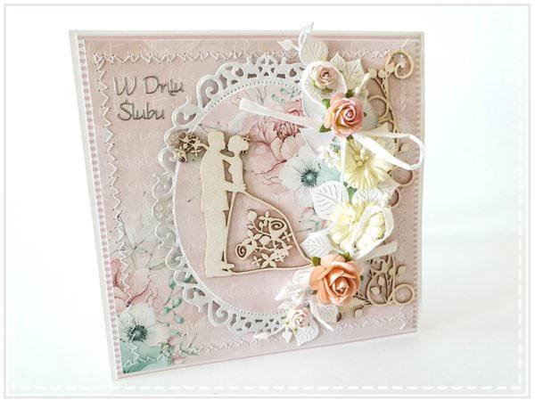 Kartka ręcznie robiona na ślub 6