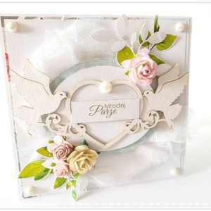 Kartka ręcznie robiona na ślub 8