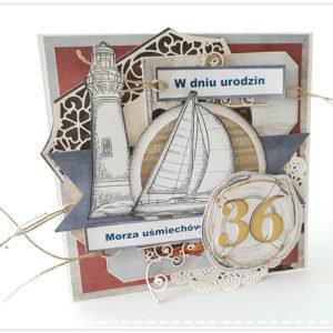 Kartka ręcznie robiona na urodziny 16