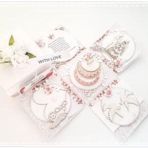 Kartka ręcznie robiona na rocznice ślubu 2