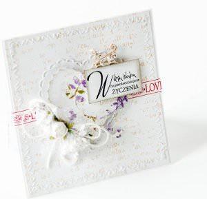 Kartka ręcznie robiona na ślub 3
