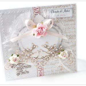 Kartka ręcznie robiona na ślub 2