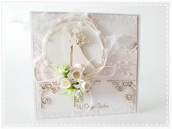 Kartka ręcznie robiona na ślub 12