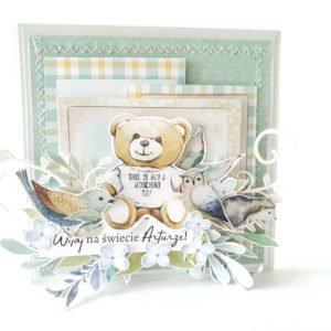 Kartka ręcznie robiona na narodziny dziecka 29