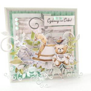 Kartka ręcznie robiona na narodziny dziecka 30