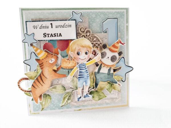 Kartka ręcznie robiona na urodziny dziecka 51
