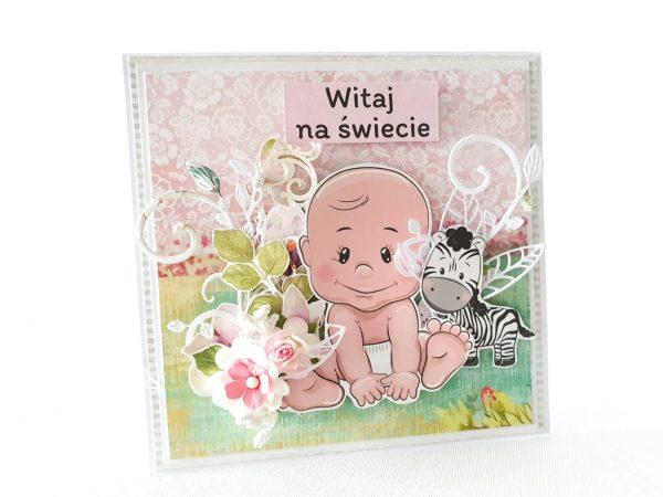Kartka ręcznie robiona na narodziny dziecka 34