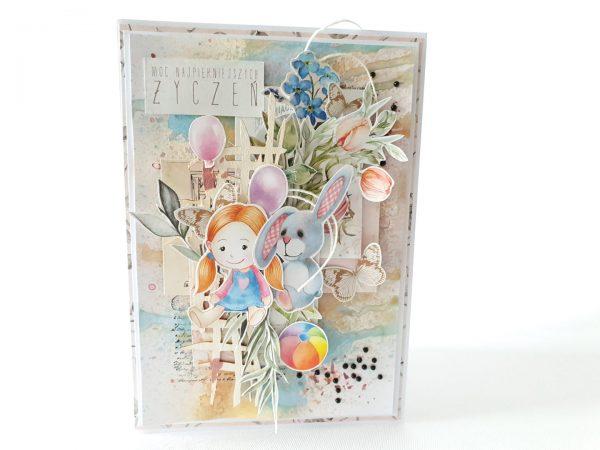 Kartka ręcznie robiona na urodziny dziecka 66