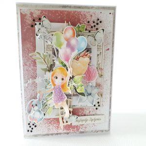 Kartka ręcznie robiona na urodziny dziecka 67